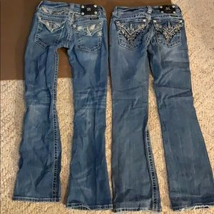 Lot of 2 Miss Me Boot Jeans